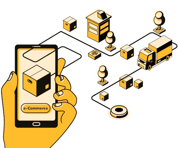 logistické služby elektronického obchodování